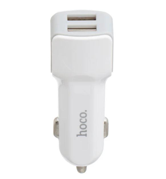 Зарядное устройство автомобильное HOCO Z23 7087, 2 USB, белое