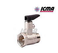 ICMA Предохранительный клапан для водонагревателя с флажком 1/2 №GS09