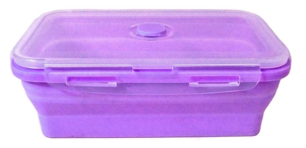 Контейнер пищевой силиконовый Stenson MH-3395 1200мл, фиолетовый