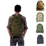 Рюкзак тактический штурмовой Molle Assault B01 40 л, олива, фото 2
