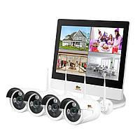 1.0 MP Набір для вулиці LCD Wi-Fi IP-25 4xCAM + 1xNVR
