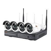 1.0MP Набор для улицы Wi-Fi IP-33 4xCAM + 1xNVR, фото 1
