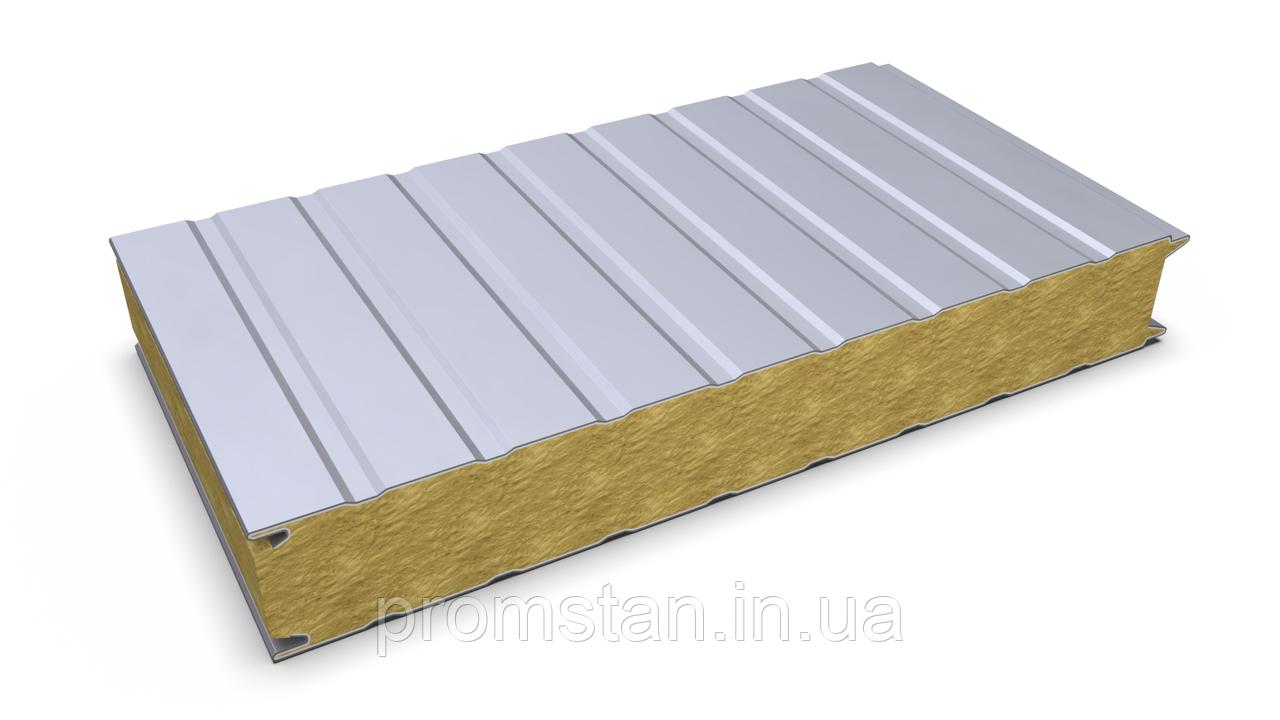 Стеновая сэндвич-панель с наполнителем из минеральной ваты 60 мм