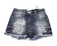 Детские шорты джинсовые размер 1 2 и 3 года Турция летние синие с кружевом джинс
