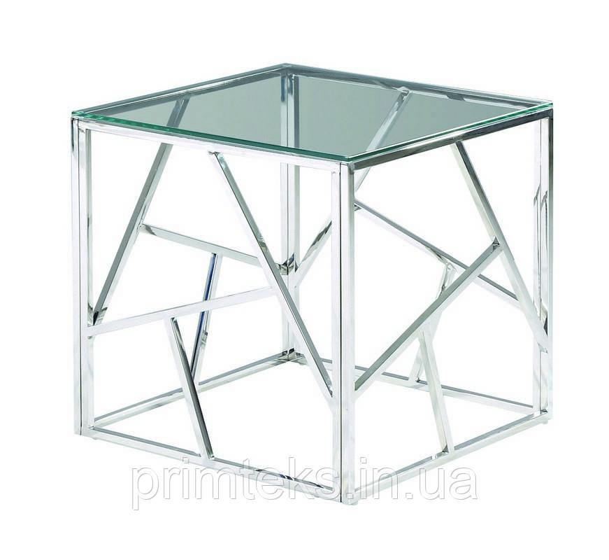 Журнальный стол CF-2 прозрачный + серебро