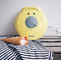 Вафельница электрическая + конус для рожков и мороженого, фото 1