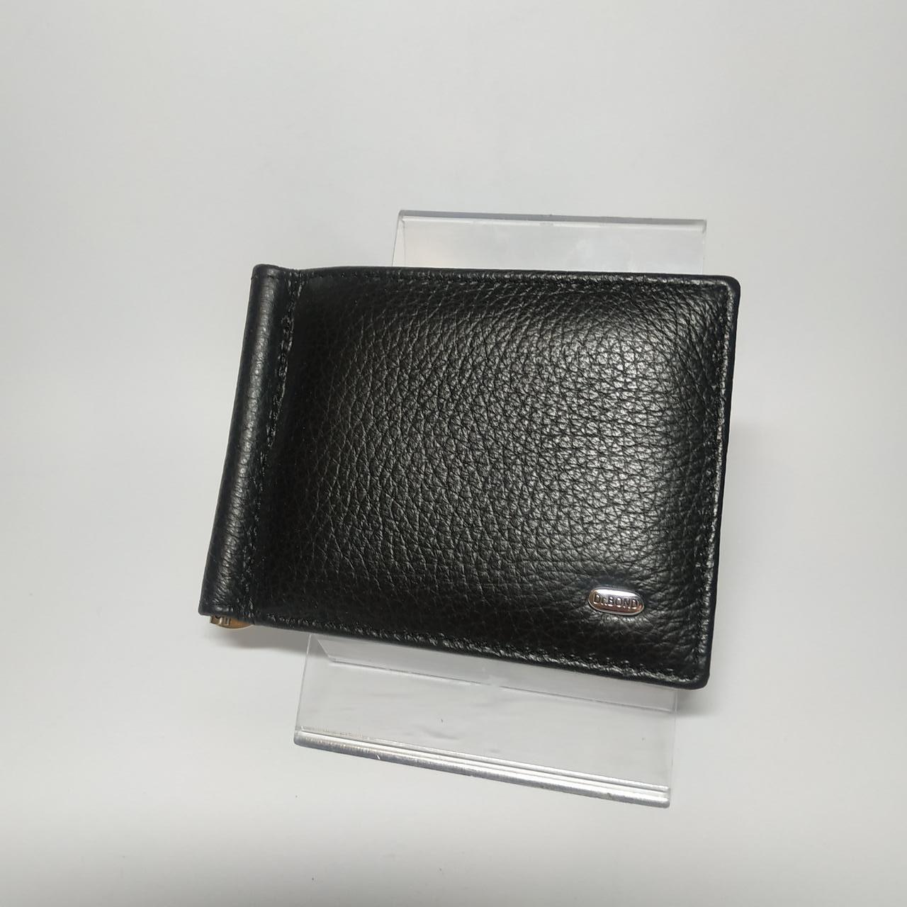 Шкіряний зажим для грошей / Кожаный мужской кошелек Dr.Bond MZS-3