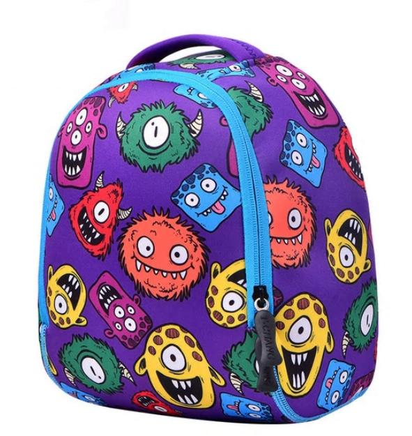 Рюкзак детский MK 3114 фиолетовый, монстры