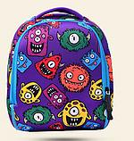 Рюкзак детский MK 3114 фиолетовый, монстры, фото 2
