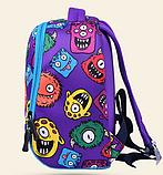Рюкзак детский MK 3114 фиолетовый, монстры, фото 3