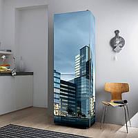"""Виниловая наклейка на холодильник """"Графика города""""., фото 1"""