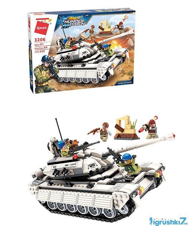 Конструктор Brick 3206 Военный танк 430 деталей