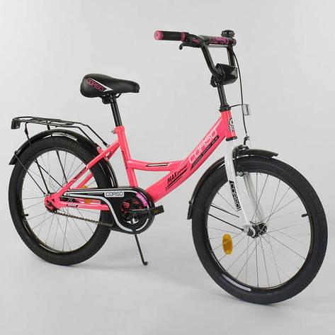 """Велосипед 20"""" дюймов 2-х колёсный  """"CORSO"""" CL-20 Y 6009 (1)РОЗОВЫЙ, ручной тормоз, звоночек, СОБРАННЫЙ НА 75% в коробке, фото 2"""