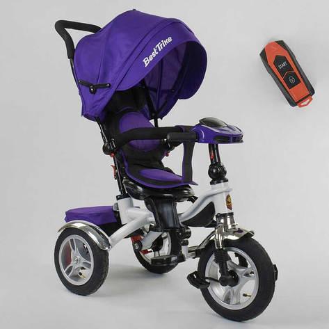 Велосипед 3-х колёсный 5890 / 85-975 Best Trike (1) ФАРА C USB, ПОВОРОТНОЕ СИДЕНИЕ, СКЛАДНОЙ РУЛЬ, Рус.озвучка, НАДУВНЫЕ КОЛЕСА, ПУЛЬТ(свет,звук), фото 2