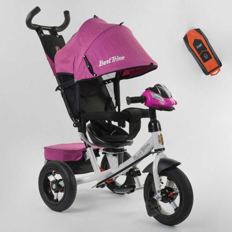 Велосипед 3-х колёсный 7700 В / 71-375 Best Trike (1) ФАРА С USB, ПОВОРОТНОЕ СИДЕНЬЕ, НАДУВНЫЕ КОЛЕСА переднее колесо d=29см. задние d=26см, ПУЛЬТ