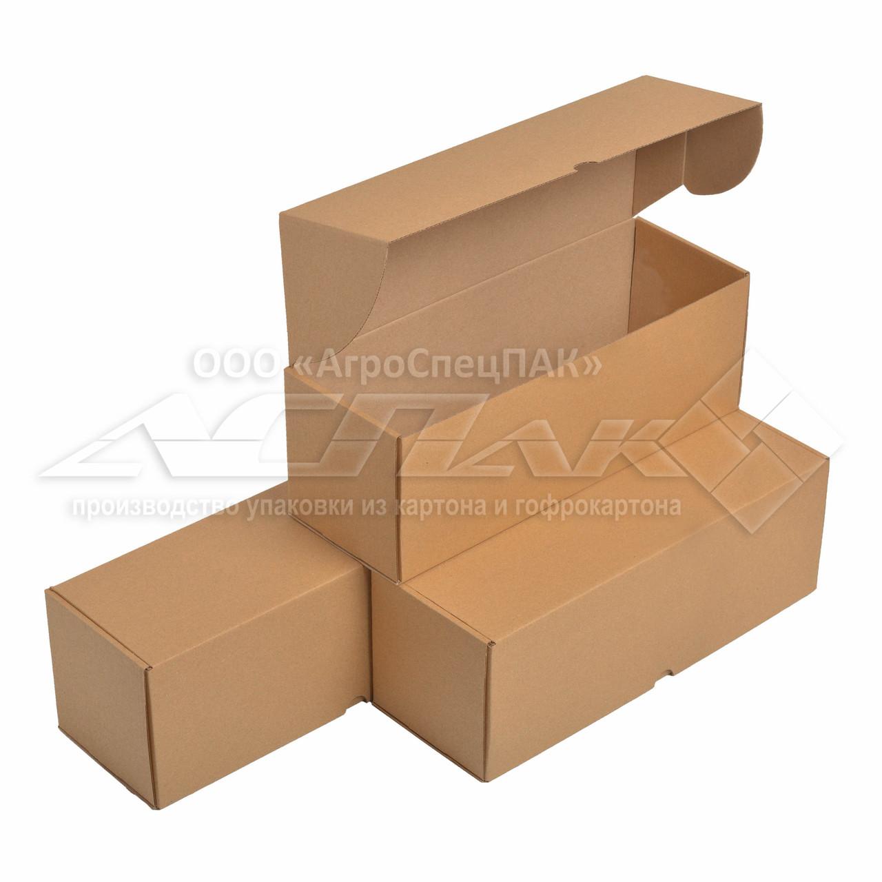 Самосборные коробки 350x120x120 бурые. Крафтовые коробки.