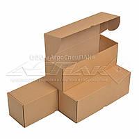 Самосборные коробки 350x120x120 бурые. Крафтовые коробки., фото 1