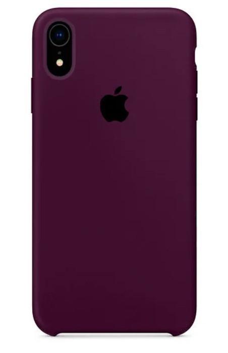 Задняя накладка Hi-Copy Silicone Case APPLE IPHONE XR (№52 GRAPE PURPLE)