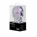 Гребінець для волосся Tangle Angel REBEL White Chrome Білий хром Розмір: 10 на 7 см, фото 3
