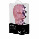 Гребінець для волосся Tangle Angel REBEL Pink Chrome Рожевий хром Розмір: 10 на 7 см, фото 3