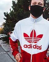 Спортивная кофта олимпийка мужская Adidas Thrino Красно-белая