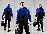 Куртка анорак мужской President сине- черный размер XXL