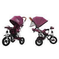 Трехколесный велосипед колясочного типа TILLY TRAVEL T-387 , Фиолетовый лен