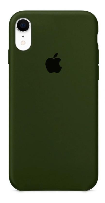 Задняя накладка Hi-Copy Silicone Case APPLE IPHONE XR (№48 OLIVE)
