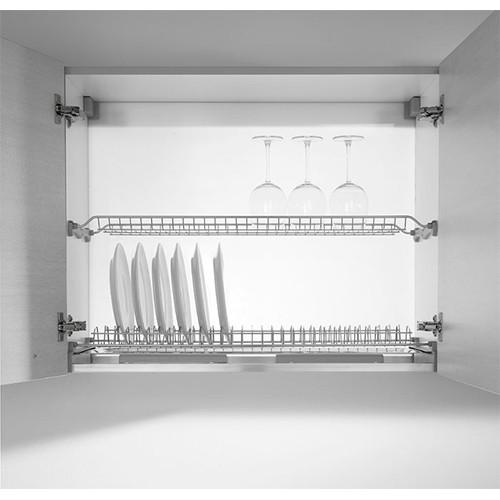 Сушкa для посуды Inoxa двухяруснaя 600мм (557х260х55мм), хром