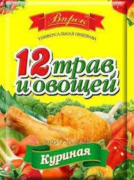 """Приправа 12 овочів і трав куряча """"Впрок"""" 80г"""