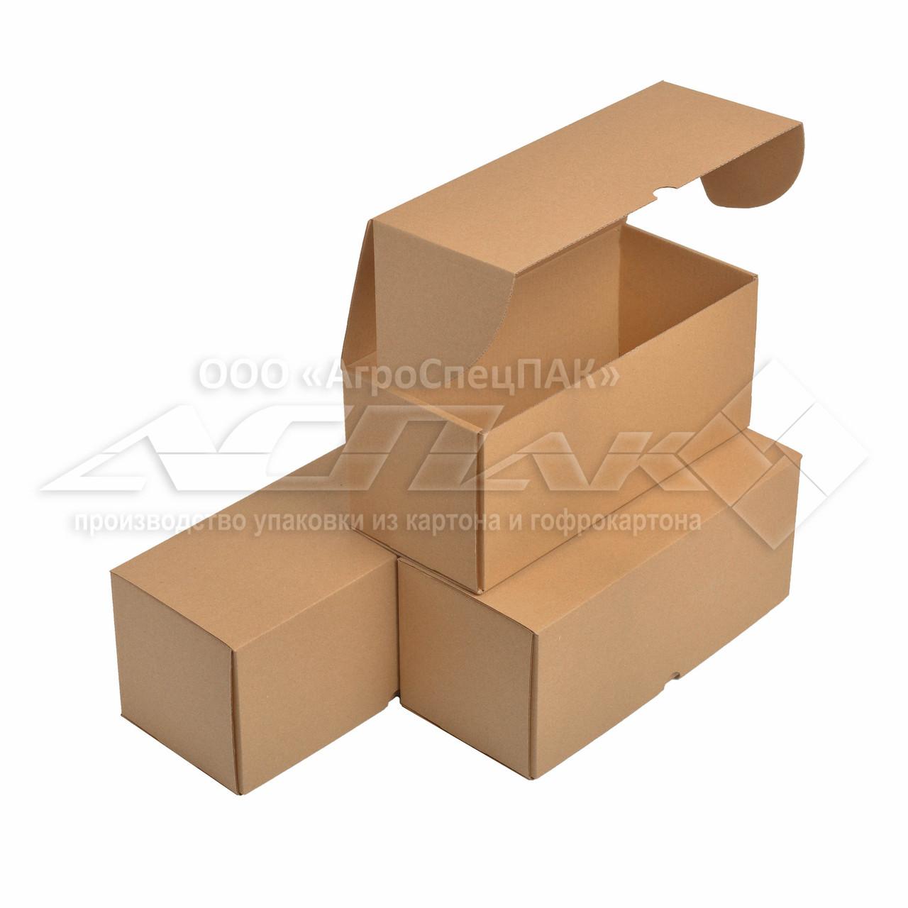 Картонные коробки 300х130х130 бурые из микрогофрокартона