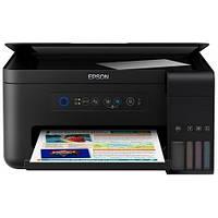 Принтер струйный на жидких красках для офиса и дома с вай фай эпсон МФУ Epson L4150 (C11CG25403) Wi-Fi