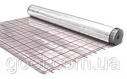 Фольга под теплый пол отражающая пленка подложка с разметкой 1х50м.п рулон 50 м2 (Польша)