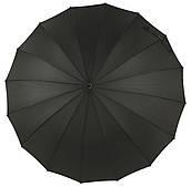 Мужской прочный стильный зонт трость классический черный цвет MAX komfort art. 1003 большой купол