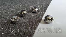 Ножка на винте грани 1,6*1,6 см никель