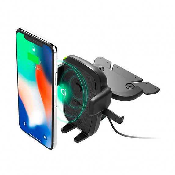 Автодержатель-зарядка iOttie One Touch 4 Wireless Qi Charging CD Mount (HLCRIO136AM)