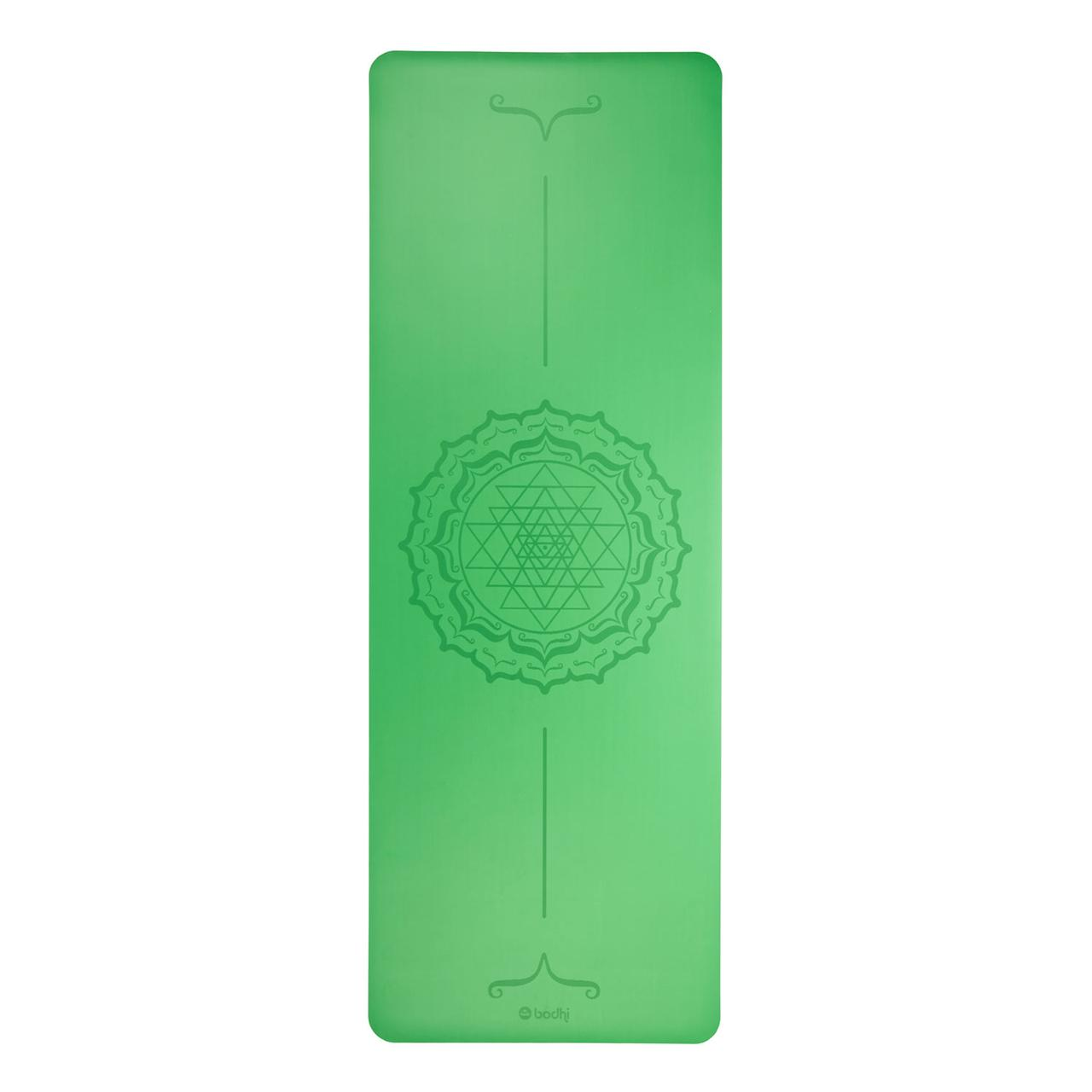 Коврик для йоги FHOENIX with Yantra-Mandala (Феникс Янтра  Мандала), зеленый