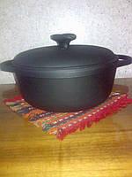 Посуда чугунная: чугунный казан 3л с крышкой «Ситон»