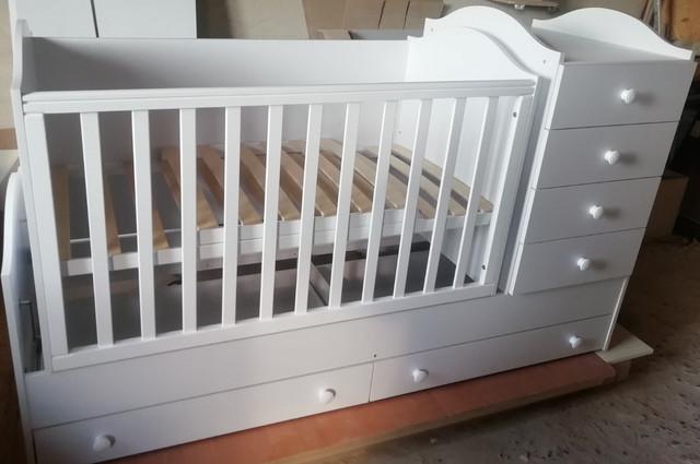"""Детская кроватка-трансформер """"Диона"""" 3в1 Angel baby"""