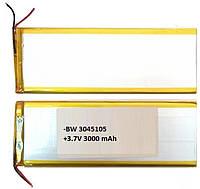 Аккумулятор универсальный 3040105P 4.0 cm х 10.05 cm 3.7v 3000 mAh