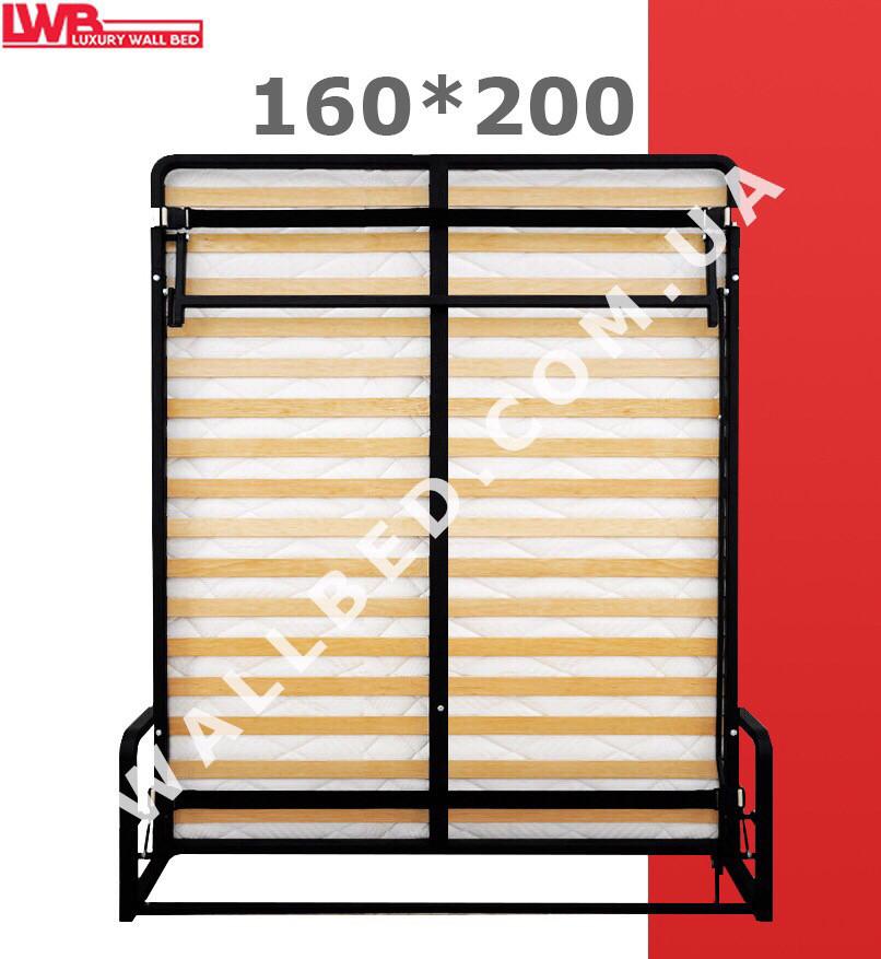 Вертикальная откидная кровать 160*200 с подголовниками