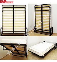 Вертикальная откидная кровать 160*200 с подголовниками, фото 3