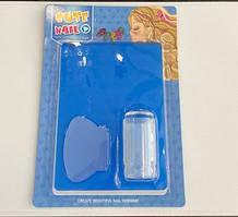 Набор для стемпинга большая платина,штамп и скрапер,Cute Nail