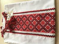 Сорочка біла вишита хрестиком та мережкою 9-10 років (ручна робота)сорочкове полотно довгий рукав