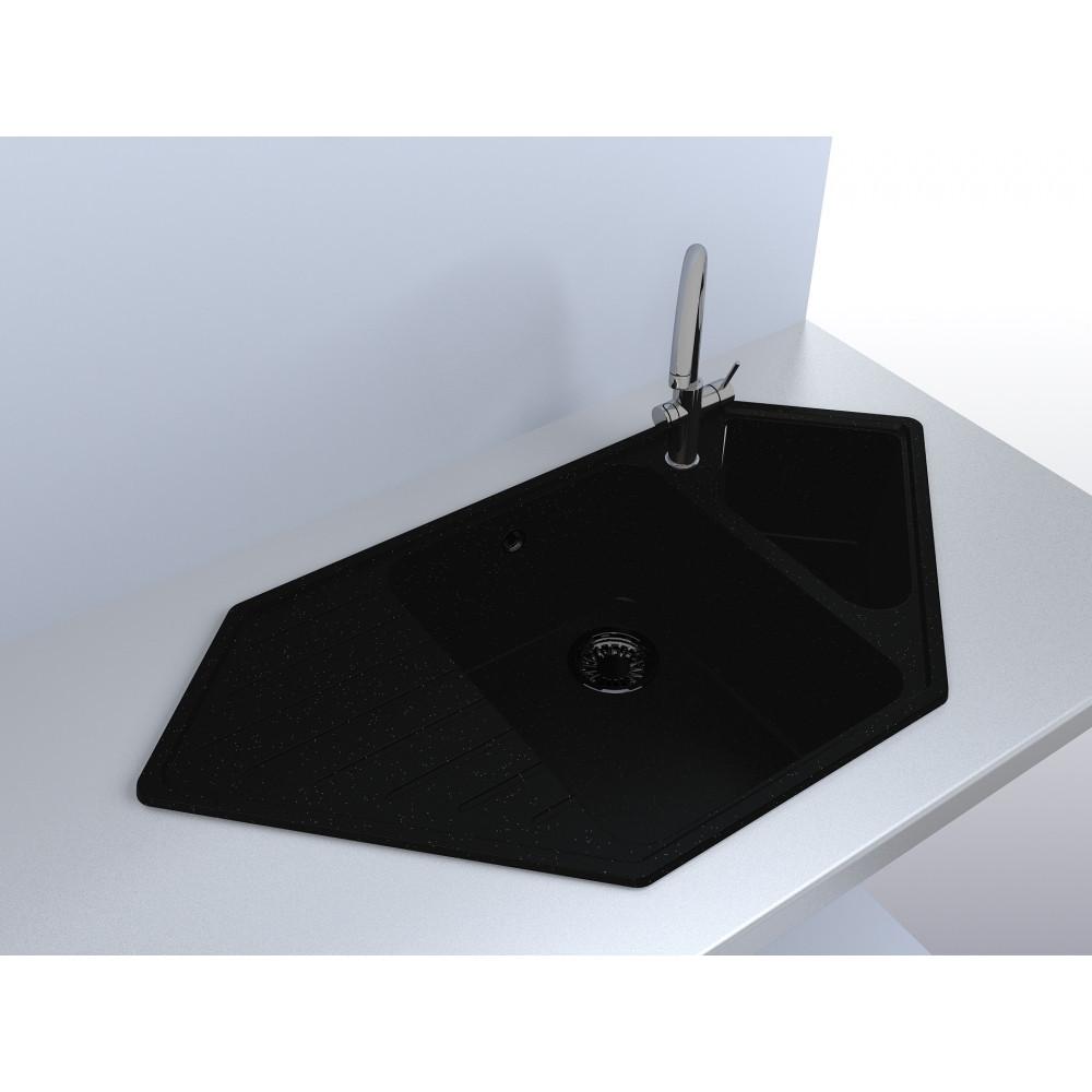 Кухонная мойка Fancy Marble Tirion black