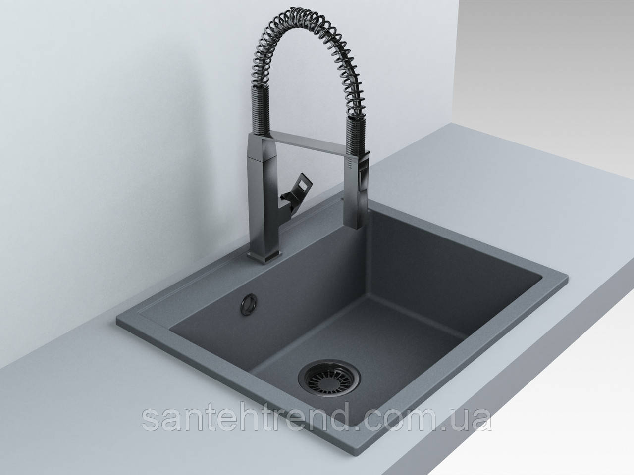 Кухонная мойка Fancy Marble Oregon, 108060040, gray