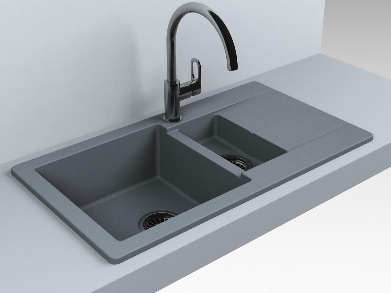 Кухонная мойка Fancy Marble Alabama, gray