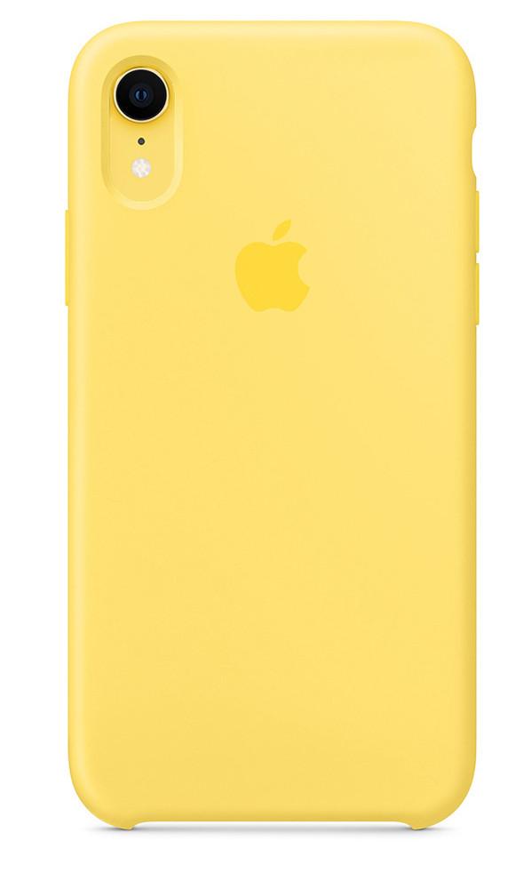 Задняя накладка Hi-Copy Silicone Case APPLE IPHONE XR (№4 YELLOW)