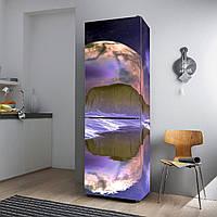 """Виниловая наклейка на холодильник """"Чужая планета""""., фото 1"""