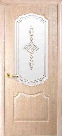 Дверь межкомнатная Вензель Ясень new 900 мм, со стеклом сатин.